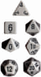 Picture of Dice Set Grey Faced/Black Numbered Opaque Dice