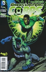 Picture of Green Lantern Corps (2011) #33 Batman 75th Anniversary Variant Cover