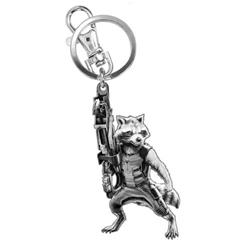 Picture of Rocket Raccoon Pewter Key Ring