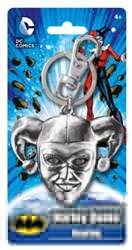 Picture of Harley Quinn Head Pewter Key Ring