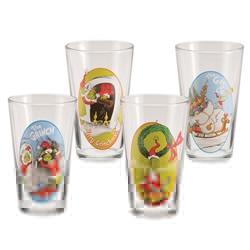 "Picture of Dr. Seuss ""The Grinch"" 4 pc. 16 oz. Glass Set"