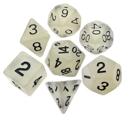 Picture of Resin Dice Glow in the Dark Clear 16mm Poly