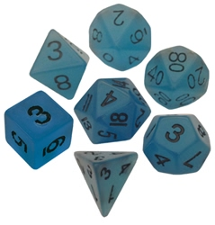 Picture of Resin Dice Glow in the Dark Blue 16mm Poly