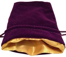 Picture of Black Velvet Gold Lining Bag