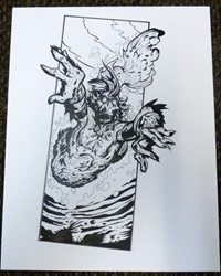 Picture of Tom Biondolillo Mer-Monster Original Art