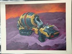 Picture of John Zeleznik Planet Shapers Mixer Concept Painting Original Art