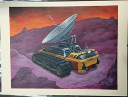 Picture of John Zeleznik Planet Shapers Comtruck Concept Painting Original Art