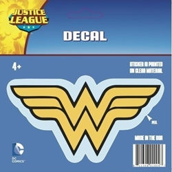 Picture of Wonder Woman Standard Yellow Logo Decal