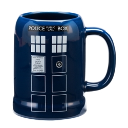 Picture of Doctor Who TARDIS 20 oz. Ceramic Stein
