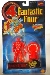 Picture of Fantastic Four Human Torch Glow-In-The-Dark Flames Action Figure