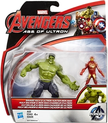 "Picture of Hulk & Iron Man Ultron Hunter Avengers Age of Ultron Deluxe 2.5"" Figure 2-Pack"