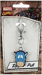 Picture of Marvel Comics Retro Captain America Head Rubber Zipper Pull