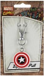 Picture of Marvel Comics Captain America Shield Rubber Zipper Pull