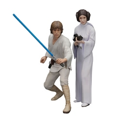 Picture of Star Wars Luke Skywalker and Princess Leia ArtFX+ Statue