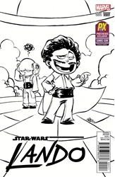 Picture of Star Wars Lando #1 (of 5) Young B&W Sketch Variant SDCC Exclusive
