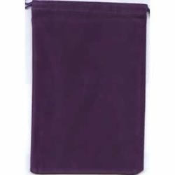Picture of Dice Purple Velour Small Pouch