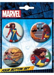 Picture of Ms. Marvel Button Set