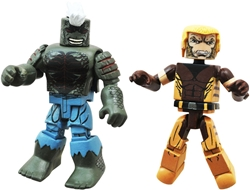 Picture of Marvel Minimates Axis Series 62 Uncanny Sabertooth & Kluh 2-pack