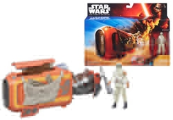 Picture of Star Wars VII Force Awakens Rey and Speeder Bike Vehicle Action Figure 2-Pack
