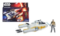 Picture of Star Wars VII Force Awakens Rebels Kanan Jarrus and Y-Wing Vehicle Action Figure 2-Pack