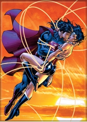 Picture of Superman Wonder Woman Magnet