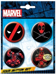 Picture of Deadpool 4 Button Set