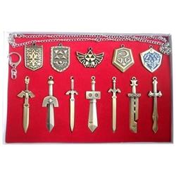 Picture of Legend of Zelda Weapon Pendant Necklace Set
