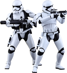 Picture of Star Wars First Order Stormtrooper Sixth Scale Hot Toy Figure Set
