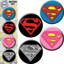 "Picture of Superman Logo 1.25"" 4-Button Set"