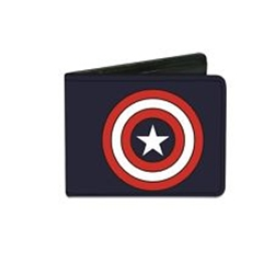 Picture of Bi-Fold Wallet Captain America Navy Shield