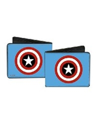 Picture of Canvas Bi-Fold Wallet Captain America Blue Shield
