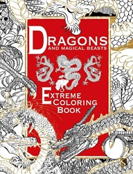 Picture of Dragons and Magical Beasts Extreme Coloring Book SC