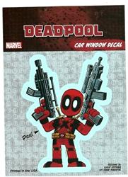 Picture of Deadpool Cartoon Guns Sticker