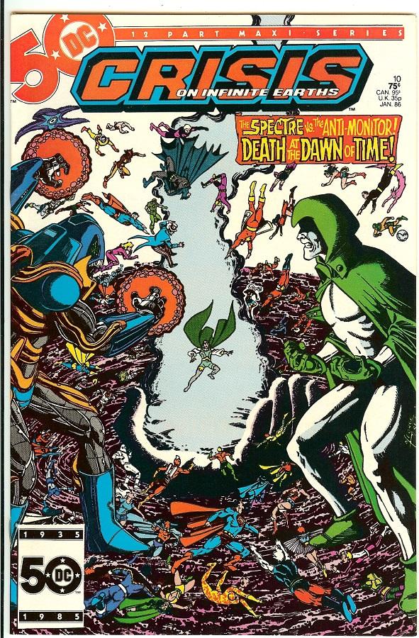 Bedrock City Comic Company. Crisis on Infinite Earths #10