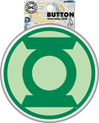 """Picture of Green Lantern Symbol 6"""" Button"""