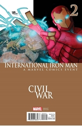 Picture of International Iron Man #2 Civil War Cover