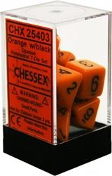 Picture of Dice Set Opaque Orange/Black