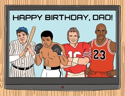 Picture of Sports TV Happy Birthday, Dad! Birthday Card