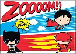 Picture of Superman, Flash and Batman Race Chibi Magnet
