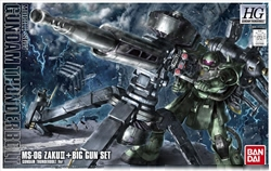 Picture of Gundam Thunderbolt Zaku and Big Gun HG Model Kit