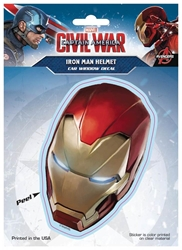 Picture of Captain America Civil War Iron Man Helmet Window Decal
