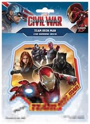 Picture of Captain America Civil War Team Iron Man Window Decal