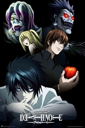 "Picture of Death Note Characters 24""x36"" Poster"
