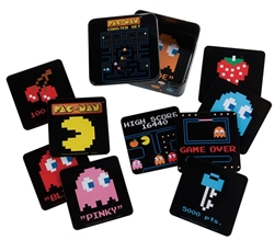 Picture of Pac-Man 10 Piece Coaster Set and Tin