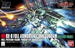 Picture of Gundam Full Armor Unicorn Destroy Mode HG 1/144 Model Kit