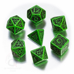 Picture of Celtic Black and Green Dice Set