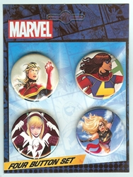Picture of Ms Marvel Spider-Gwen 4 Button Set