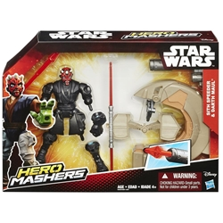 Picture of Star Wars Hero Mashers Sith Speeder and Darth Maul Action Figure