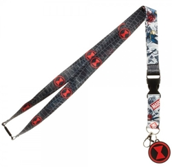 Picture of Black Widow Lanyard with Charm