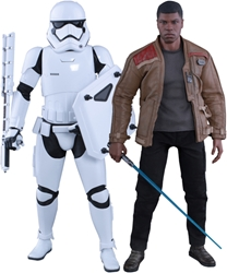 Picture of Star Wars Force Awakens Finn and First Order Riot Trooper Hot Toy Sixth Scale Figure 2-Pack